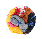Ball of colorful thread Stock Photos