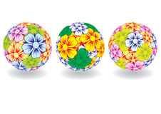 Ball consisting of colors. Vector. Stock Image