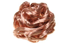 Ball of copper wire Stock Photography