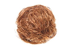 Ball of copper wire Stock Photos