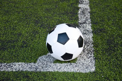 Ball on corner line Royalty Free Stock Photos