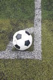 Ball on corner line Royalty Free Stock Images