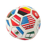 Ball with countries flags Royalty Free Stock Photo
