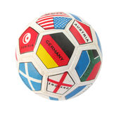 Ball with countries flags Stock Photography
