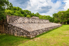 Ball court in the mayan site of Ek Balam, Mexico Royalty Free Stock Photos