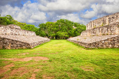 Ball court in the mayan site of Ek Balam, Mexico Royalty Free Stock Photo