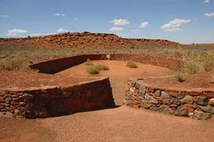 Ball Court at Wupatki National Monument Stock Images