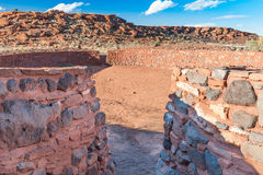 Ball court, Wupatki National Monument, AZ, US Royalty Free Stock Images