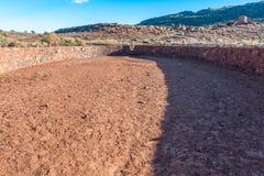 Ball court, Wupatki National Monument, AZ, US Royalty Free Stock Photography
