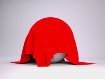 Ball covered with red cloth Stock Photography