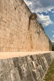 The ball-court of the Chichen Itza Mexico. The ball-cpurt of the Chichen Itza maya archaeological site in Mexico Royalty Free Stock Image