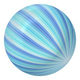 Ball created from blue rays Royalty Free Stock Photo