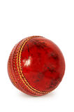 Ball for cricket. Red ball for cricket on a white background Stock Images