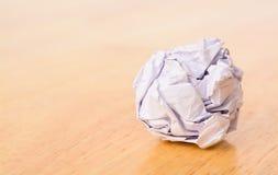 ball crumpled paper Стоковые Фото