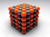 Ball cube. Balls forming a red-black cube Royalty Free Stock Image