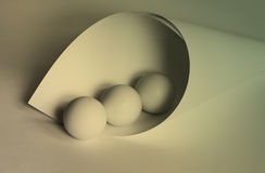 Ball and Curves Stock Photography