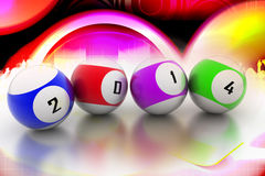 2014 in ball. 3d image Royalty Free Stock Image
