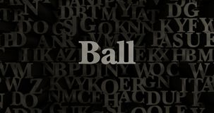 Ball - 3D rendered metallic typeset headline illustration Royalty Free Stock Photography