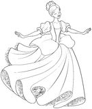 The  Ball Dance of Cinderella Coloring Page. The royal ball dance of Cinderella coloring page Stock Photos