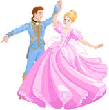 The Ball Dance of Cinderella and Prince Stock Photography