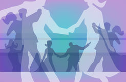 Ball dancing colorful background Royalty Free Stock Images