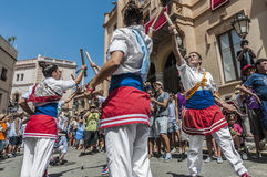 Ball de Bastons at Festa Major in Sitges, Spain Stock Photo