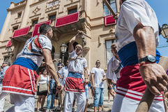 Ball de Bastons at Festa Major in Sitges, Spain Royalty Free Stock Photos