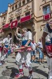 Ball de Bastons at Festa Major in Sitges, Spain Royalty Free Stock Photos