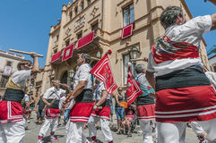 Ball de Bastons at Festa Major in Sitges, Spain Stock Photos