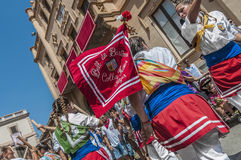 Ball de Bastons at Festa Major in Sitges, Spain Stock Photography