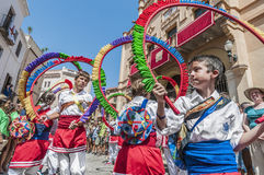 Ball de Cercolets at Festa Major in Sitges, Spain Stock Image