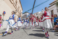 Ball de Cintes at Festa Major in Sitges, Spain Royalty Free Stock Photos