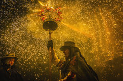 Ball de Diables on Correfoc in Cervera Stock Image