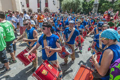 Ball de Diables at Festa Major in Sitges, Spain Royalty Free Stock Photos