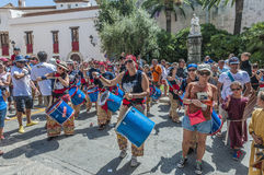 Ball de Diables at Festa Major in Sitges, Spain Stock Images