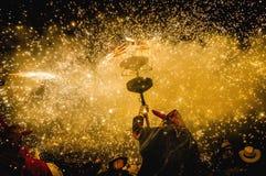 Ball DE Diables op Correfoc in Cervera Royalty-vrije Stock Foto's