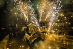 Ball de Diables sur Correfoc en EL Vendrell Photos libres de droits