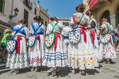 Ball de Gitanes at Festa Major in Sitges, Spain Stock Photo