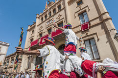 Ball de Moixiganga at Festa Major in Sitges, Spain Stock Image