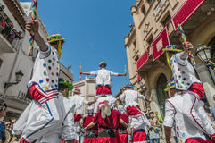 Ball de Moixiganga at Festa Major in Sitges, Spain Stock Image