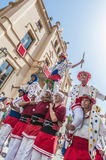 Ball de Moixiganga at Festa Major in Sitges, Spain Royalty Free Stock Image