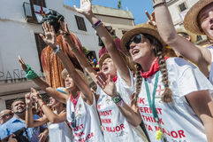Ball de Pastorets at Festa Major in Sitges, Spain Stock Image