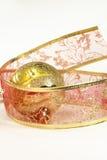 Ball decorating ribbon Stock Photos