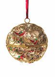 Ball decoration. Metal ball christmas decoration Royalty Free Stock Photography