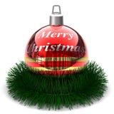 Ball der frohen Weihnachten Lizenzfreie Stockfotos