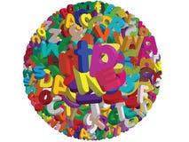 Ball des Alphabetes 3D -  Stockbilder