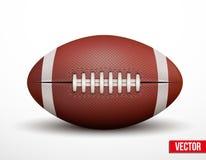Ball des amerikanischen Fußballs lokalisiert auf einem weißen Hintergrund Lizenzfreies Stockbild