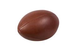 Ball des amerikanischen Fußballs lokalisiert auf weißem Hintergrund stockfoto