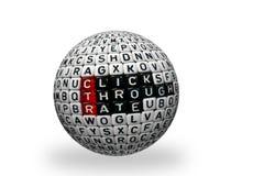 Ball des CTR-Klicken-Abflussrinnen-Ratenschwarzen 3d Lizenzfreies Stockfoto
