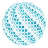 Ball with  diagonal swirl Royalty Free Stock Photos